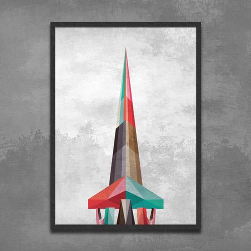 Torre de TV Poligonal - Edição Limitada